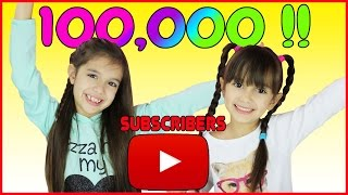 getlinkyoutube.com-5 and 7 year old kids reach 100,000 SUBSCRIBERS!!!! Celebration, Countdown and Live Reaction