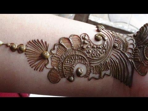 Best Arabic Mehendi 2013:How To Apply Henna Mehndi Tattoo On Hand/Designs