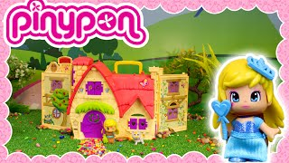 getlinkyoutube.com-Pinypon Casa de los cuentos Rapunzel y todos los personajes