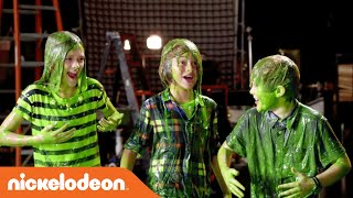 getlinkyoutube.com-Kids' Choice Awards 2015 | Nick Jonas Slimes the Cast of Nicky, Ricky, Dicky, and Dawn | Nick