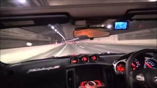 getlinkyoutube.com-Saclam Exhaust 某高速道トンネル Z34 Roadster (370Z)