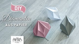 getlinkyoutube.com-DIY: hübsche Papier-Diamanten selber machen [How to] Deko Kitchen