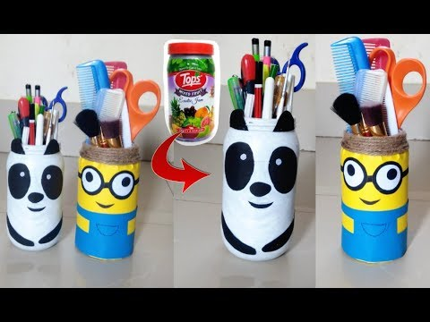 Download Thumbnail For Diy Panda Minion Pencil Holder Best Out Of