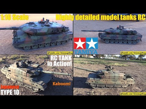 Remote Control Toys: TAMIYA RC Tanks! German Leopard 2A6 and Japanese Type 10 Tanks