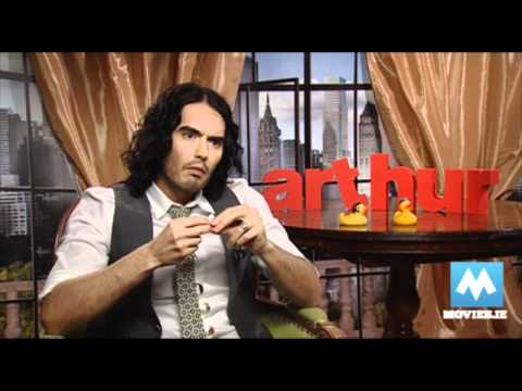 RUSSELL BRAND - interview with the star of Arthur, Hop & Rock Of Ages