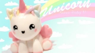 getlinkyoutube.com-◕‿◕Unicorn! Kawaii Friday 81 - Tutorial in Polymer clay!