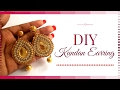 How to Make Kundan Jewellery at Home - Easy party Wear earrings making tutorial  BY Maya Kalista!
