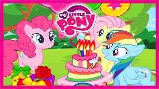 getlinkyoutube.com-💫 My Little Pony Rainbow Dash Surprise Birthday Party Pinkie Pie and Fluttershy Game for Children