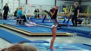 getlinkyoutube.com-Level 1 Gymnastics Competition - Katie's first meet  2010