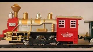 getlinkyoutube.com-Toy train videos for children and Kids Steam Train Engine Train Set
