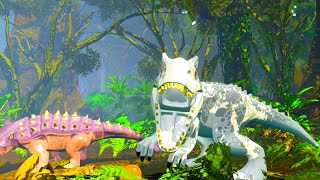 getlinkyoutube.com-LEGO Jurassic World Indominus Rex vs Ankylosaurus Showdown