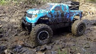 getlinkyoutube.com-Traxxas Telluride, Traxxas Stampede 4x4 modified - forest trail, girls driving their RC models