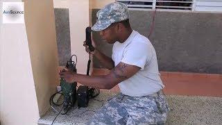 getlinkyoutube.com-Army Specialist Prepares a Falcon-III PRC-117G Radio
