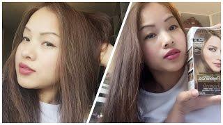 getlinkyoutube.com-How to dye Asian hair-Black Hair to Ash Brown / Loreal UL61 2016