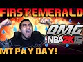 FINALLY MY FIRST EMERALD PLAYER! ITS RAINING MT TODAY! EPIC PAYDAY! NBA 2k15 Pack Opening!