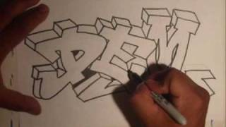 getlinkyoutube.com-Drawing Graffiti (Requested)- By Wizard