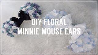 getlinkyoutube.com-DIY FLORAL MINNIE MOUSE EARS   JASMYNNKAE