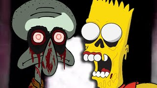 getlinkyoutube.com-Squidward's Suicide vs Dead Bart. Epic Rap Battles of Cartoons Season 2.