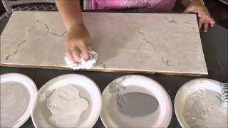 getlinkyoutube.com-How To Paint Faux Carrera Marble~Super Easy!