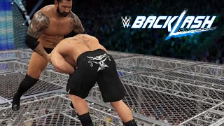 getlinkyoutube.com-WWE 2K16-The Beast Brock Lesnar vs. The Animal Batista -Hell In A Cell Match At Backlash(PS4)