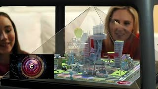 getlinkyoutube.com-Holographic pyramid creates a world on your table - BBC Click