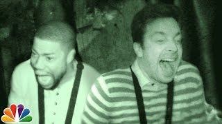 Jimmy and Kevin Hart Visit a Haunted House width=