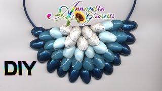 getlinkyoutube.com-Riciclo creativo | Tutorial collana pistacchi | DIY recycle statement necklace
