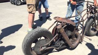 getlinkyoutube.com-Redneck Rumble 2015 International Harvester Rat Bike Chopper