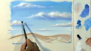 getlinkyoutube.com-Como Pintar : Nuvens ( Passo a Passo )