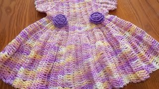 getlinkyoutube.com-Vestido Matizado para Niña Crochet parte 1 de 2