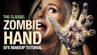 getlinkyoutube.com-Classic zombie hand special fx makeup tutorial