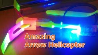 getlinkyoutube.com-Led 헬리콥터 불빛 낙하산 바람개비 장난감 사용방법(Amazing Arrow Helicopter )