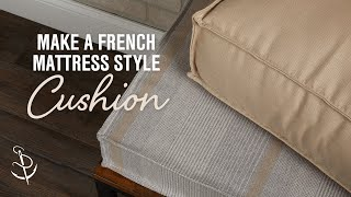 getlinkyoutube.com-How to Make a French Mattress Style Cushion