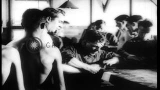 getlinkyoutube.com-Newly recruited American Army soldiers undergo medical examination in United Stat...HD Stock Footage