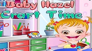getlinkyoutube.com-Baby Hazel Game - Baby Learn Painting & Craft Make & Shopping - Dora the Explorer