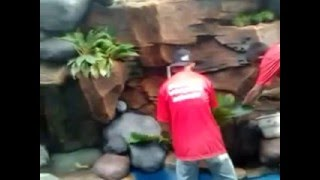 getlinkyoutube.com-video buat kolam tebing air terjun 2