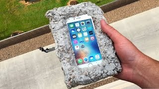 Can Concrete Protect iPhone 6s from 100 FT Drop Test? - GizmoSlip