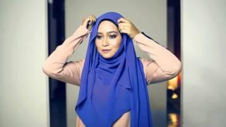 getlinkyoutube.com-Simple loose chiffon hijab shawl 2 in 10 minutes tutorial (less pin) by Shana Ramli