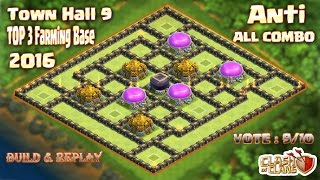 getlinkyoutube.com-Th9 Top 3 Farming base 2016.Best Farming base Town hall 9 Clash of clans (Coc)