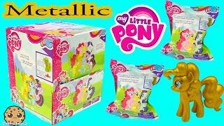 getlinkyoutube.com-Metallic MLP Gold Pinkie Pie Surprise My Little Pony Blind Bag Box - Cookieswirlc Video