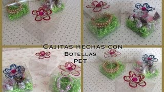 getlinkyoutube.com-CAJITAS PARA REGALO HECHAS CON BOTELLAS PET .