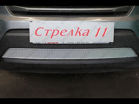 Защита радиатора PREMIUM HYUNDAI CRETA 2016-н.в. (Хром) - strelka11.ru