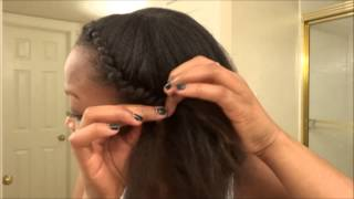 getlinkyoutube.com-STRAIGHTENED NATURAL HAIR STYLES