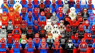 getlinkyoutube.com-Epic LEGO Spider-Man™ 2016 Marvel Super Heroes Minifigure Complete Collection