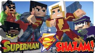 getlinkyoutube.com-Minecraft: Batman and Robin vs SHAZAM! (Minecraft Roleplay)