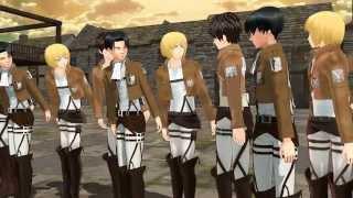 "getlinkyoutube.com-MMD SNK ""Wut?"" Attack On Titan Levi Armin Eren funny meme animation what"