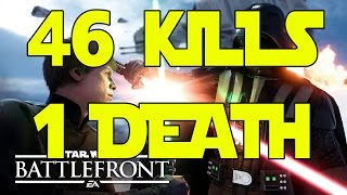 getlinkyoutube.com-46 KILLS 1 DEATH (Star Wars Battlefront Multiplayer Gameplay)
