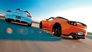 Comparison: 2010 Tesla Roadster Sport  vs. 2011 Porsche Boxster Spyder
