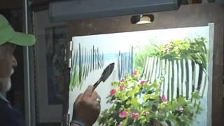 "getlinkyoutube.com-Around & About Watercolor; ""Beach Roses"""