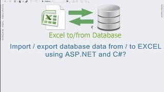 getlinkyoutube.com-Import / export database data from / to Excel using ASP.NET and C#